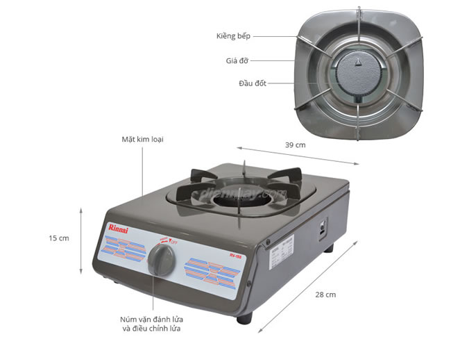 bếp gas dương đơn Rinnai RV-150